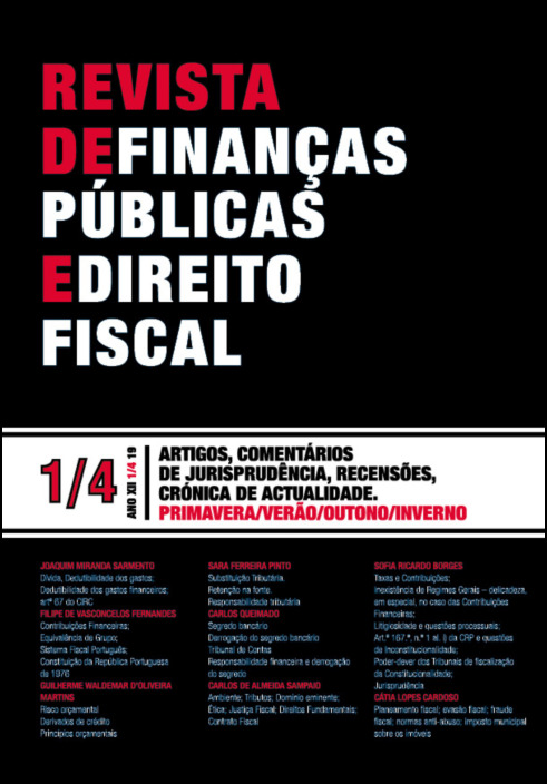 Revista de Finanças Públicas e Direito Fiscal Ano XII n.º 1/4