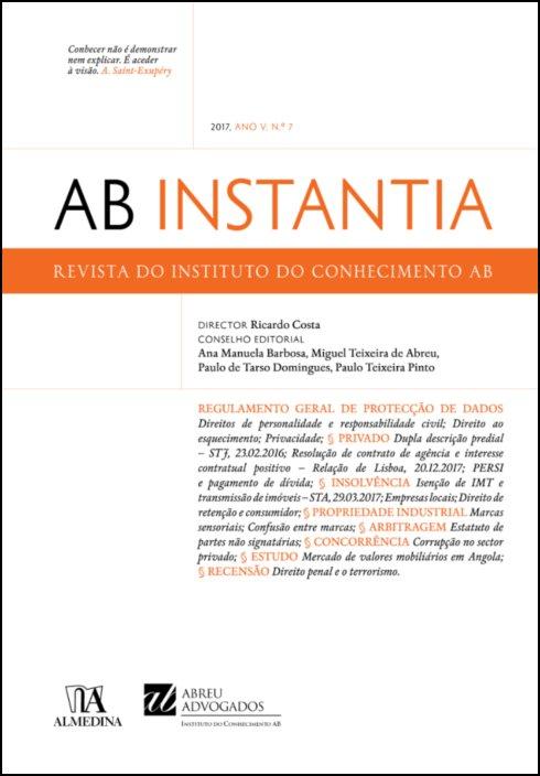 AB Instantia - 2017, Ano V, n.º 7, Anual