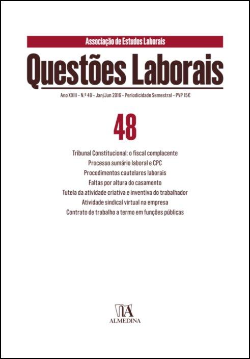 Questões Laborais n.º 48