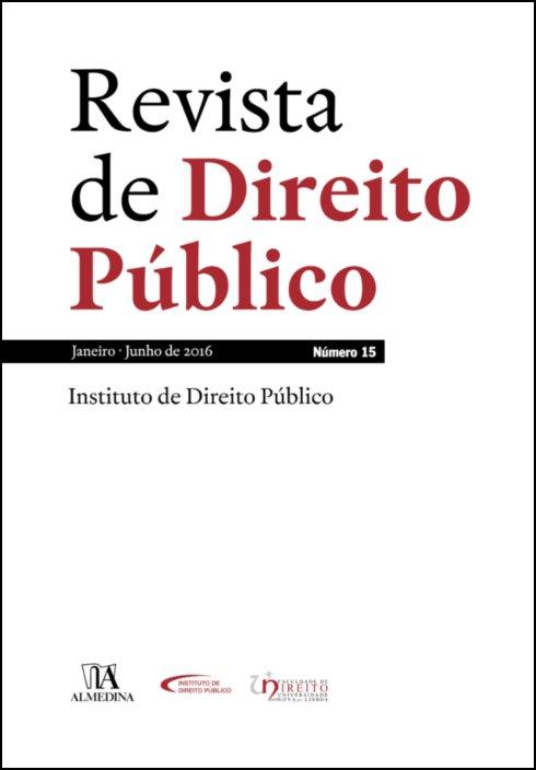 Revista de Direito Público - Ano VIII, N.º 15 - Janeiro/Junho de 2016