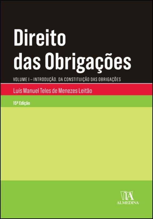 Direito das Obrigações - Vol I