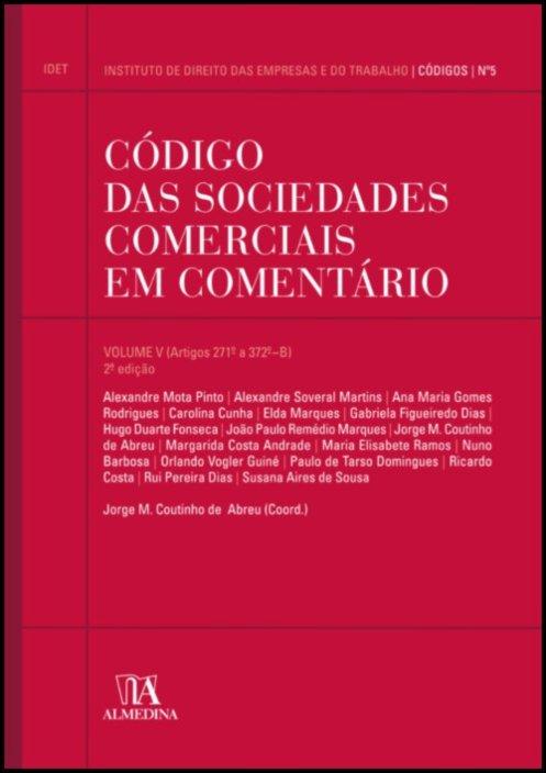 Código das Sociedades Comerciais em Comentário volume V