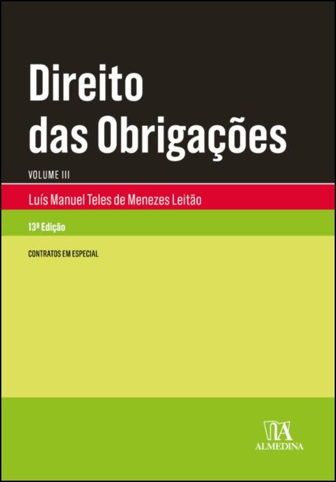 Direito das Obrigações - Vol III