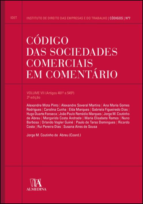Código das Sociedades Comerciais em Comentário volume VII
