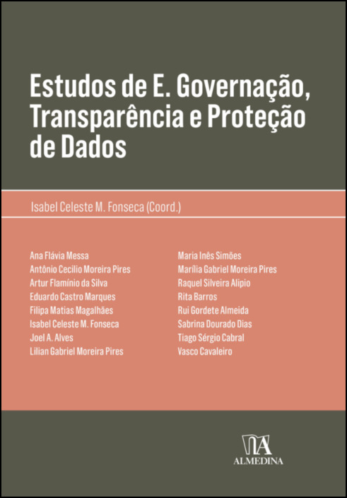 Estudos de E. Governação, Transparência e Proteção de Dados