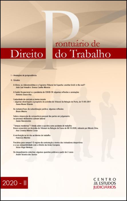Prontuário de Direito do Trabalho II 2020
