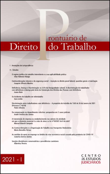 Prontuário de Direito do Trabalho I 2021